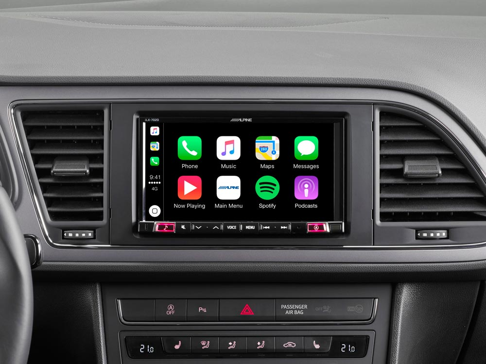7 mobile media system for seat leon featuring apple carplay and android auto compatibility. Black Bedroom Furniture Sets. Home Design Ideas