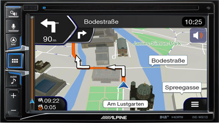 Built-in Navigation with TomTom Maps - INE-W611DC