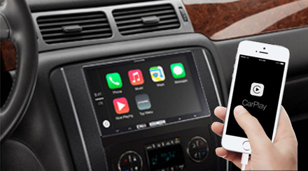 in dash digital media receiver with apple carplay alpine ilx 700. Black Bedroom Furniture Sets. Home Design Ideas