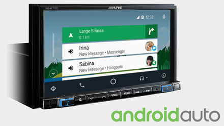 Works with Android Auto - INE-W710D