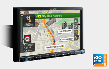 Built-in iGo Primo NextGen Navigation - X802DC-U