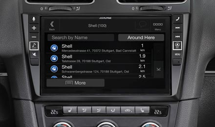 VW Golf 6 - Navigation - POIs (Points of Interest)  - X902D-G6